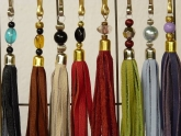 Leathertassle in many Colours
